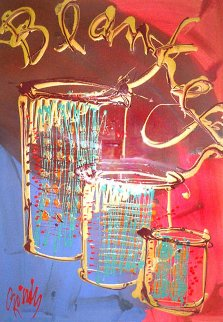 Navajo Blanket Cylinder 2002 44x54 Original Painting - Dale Chihuly