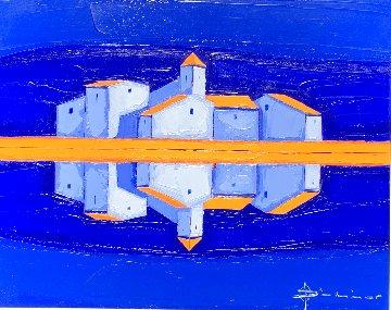 Recto Verso 2002 39x47 Original Painting - Didier Chretien