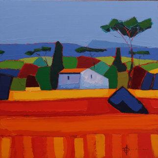 La Mas Dans La Poneda 31x31 Original Painting - Didier Chretien