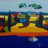 Le Mas Bleu 2011 31x31 Original Painting by Didier Chretien - 0