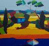 Le Mas Bleu 2011 31x31 Original Painting by Didier Chretien - 1