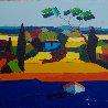Le Mas Bleu 2011 31x31 Original Painting by Didier Chretien - 3