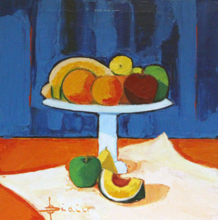 Coupelle De Fruits 19x19 Original Painting by Didier Chretien
