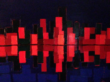 City Lights 2007 37x40 Original Painting by Didier Chretien