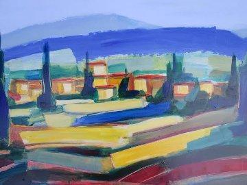 Couleur Printaniere 17x37 Original Painting - Didier Chretien
