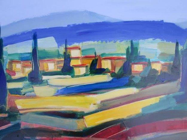 Couleur Printaniere 17x37 Original Painting by Didier Chretien