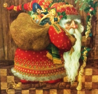 Olde World Santa 1986 Limited Edition Print by James Christensen