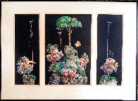 Six Bird Hunters in Full Camouflage, Set of 3 Prints in 1 Frame 1994 Limited Edition Print by James Christensen - 1