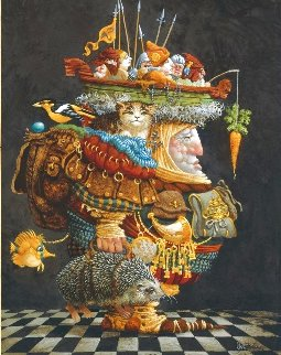 The Burden of the Responsible Man 1990 Limited Edition Print - James Christensen