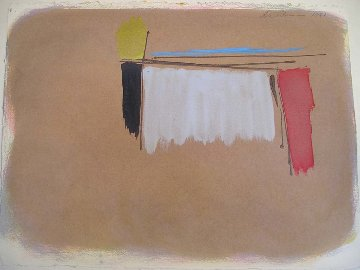 Untitled Painting 1981 34x27 Original Painting - Dan Christensen