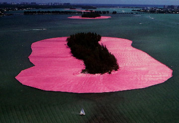 Surrounded Islands, Biscayne Bay, Greater Miami, Florida 1980 Photography - Javacheff   Christo
