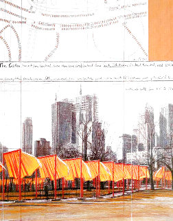 Gates, Project For Central Park, New York 2003 Limited Edition Print - Javacheff   Christo