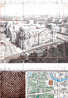 Wrapped Reichstag - Project For Berlin 1994 Limited Edition Print - Javacheff   Christo