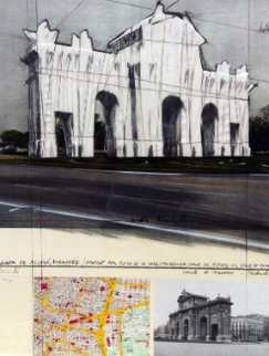 Wrapped Puerta De Alcala 1978 Limited Edition Print - Javacheff   Christo