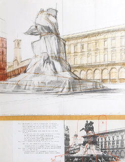 Wrapped Monument of Vittorio Emanuele Limited Edition Print - Javacheff   Christo