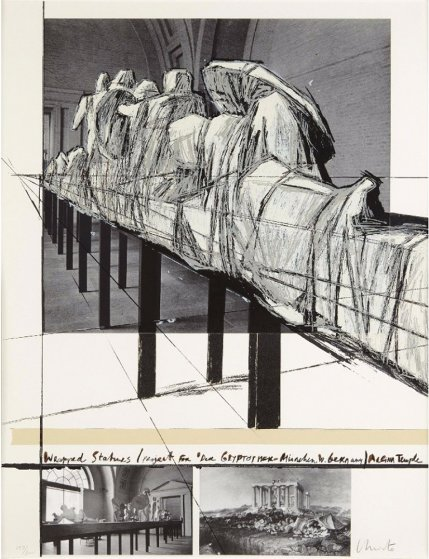 Wrapped Statues 1988 Limited Edition Print by Javacheff   Christo