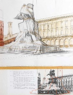 Wrapped Monument For Vittorio Emmanuelle 1970 Limited Edition Print - Javacheff   Christo