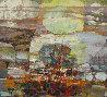 Untitled Painting 1980 43x39 Original Painting by Lau Chun - 0