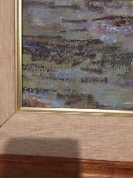 Lily Pads 1989 48x38 Super Huge Original Painting by Lau Chun - 4