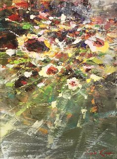 Bouquet 20x16 Original Painting - Lau Chun