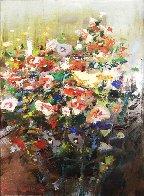 Mixed Bouquet 20x16 Original Painting by Lau Chun - 0