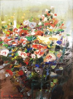 Mixed Bouquet 20x16 Original Painting - Lau Chun