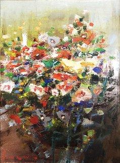 Mixed Bouquet 20x16 Original Painting - Lau Chun