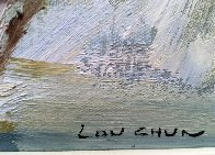 Untitled Abstract Painting 1978 19x21 (Early) Original Painting by Lau Chun - 2