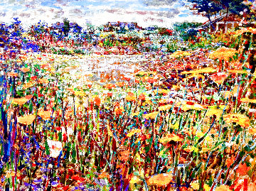 Golden Field 38x48 Original Painting - Lau Chun