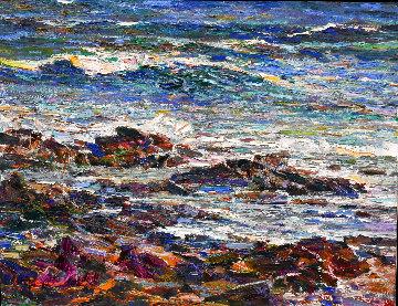 Seascape   #18 21x27 Original Painting - Lau Chun