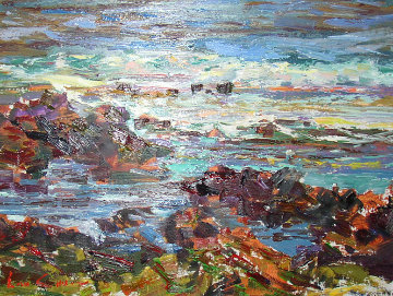 Rocks 2004 20x24 Original Painting - Lau Chun