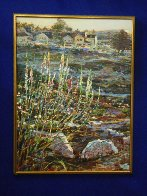 Lovers Point, Monterey Ca  Triptych 1996 50x114 Super Huge Mural Original Painting by Lau Chun - 2