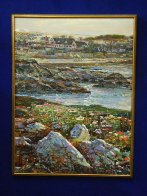Lovers Point, Monterey Ca  Triptych 1996 50x114 Super Huge Mural Original Painting by Lau Chun - 3