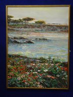 Lovers Point, Monterey Ca  Triptych 1996 50x114 Super Huge Mural Original Painting by Lau Chun - 4