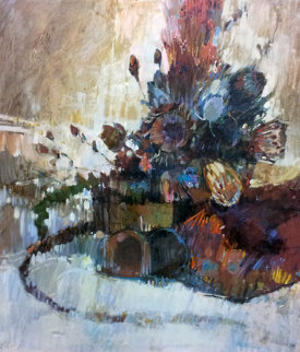 Protea 1977 59x49 Super Huge Original Painting - Lau Chun