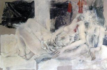 Ma Muse M'inspire 51x76 Original Painting - Viviane Cisinski