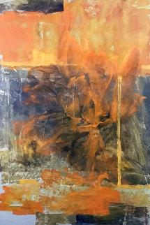 Quete De Sens 2008 47x64 Original Painting - Viviane Cisinski