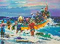 Retour Des Pecheurs 1995 Limited Edition Print - Christian Jequel