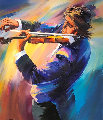 Violinest 42x37 Original Painting - Christian Jequel