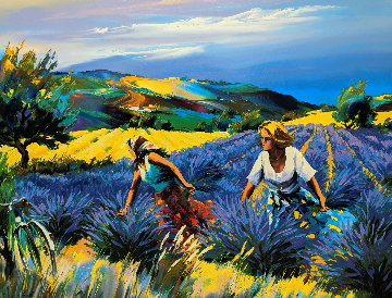 Lavender Fields 2001 Limited Edition Print by Christian Jequel