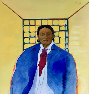 Geronimo 48x46 Original Painting by C.J. Wells