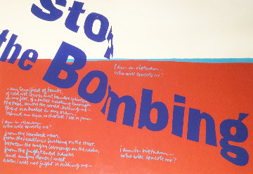 Stop the Bombing 1967 HS Limited Edition Print - Mary Corita Kent