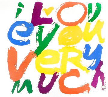 I Love You Very Much 1971 HS Limited Edition Print - Mary Corita Kent