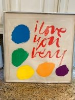 I Love You Very 1970 HS  Limited Edition Print by Mary Corita Kent - 1
