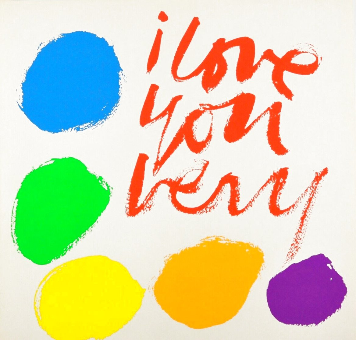 I Love You Very 1970 HS  Limited Edition Print by Mary Corita Kent