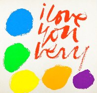 I Love You Very 1970 HS  Limited Edition Print by Mary Corita Kent - 0