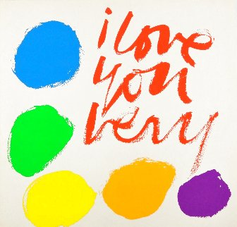 I Love You Very 1970 HS  Limited Edition Print - Mary Corita Kent