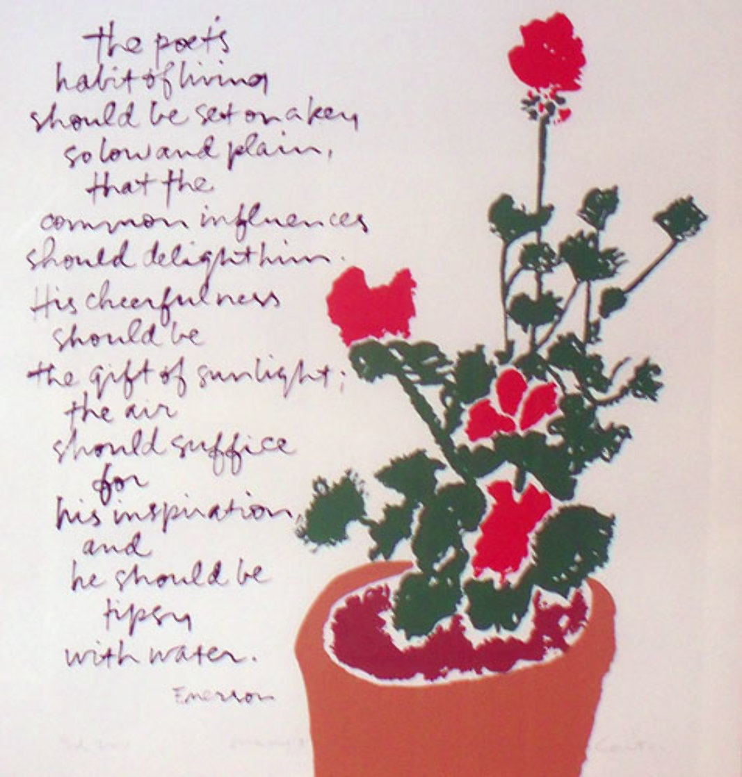 Mary's Geraniums 1980 HS Limited Edition Print by Mary Corita Kent