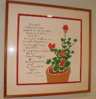 Mary's Geraniums 1980 HS Limited Edition Print by Mary Corita Kent - 1