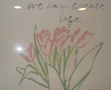 We Can Create Life Not War (CROCUSES) Limited Edition Print - Mary Corita Kent